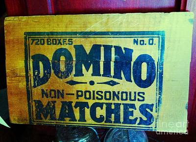 Photograph - Domino Matches by Saundra Myles
