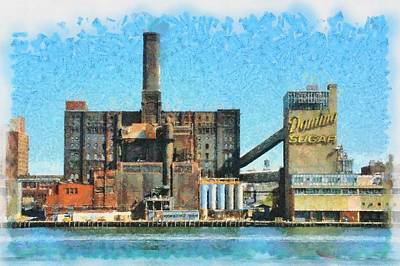 Domino Sugar New York Art Print