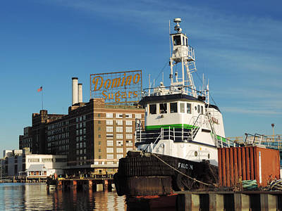 Food And Flowers Still Life - Domino Sugars Baltimore with a Boat by Cityscape Photography
