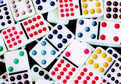 Photograph - Dominoes by Benjamin Yeager