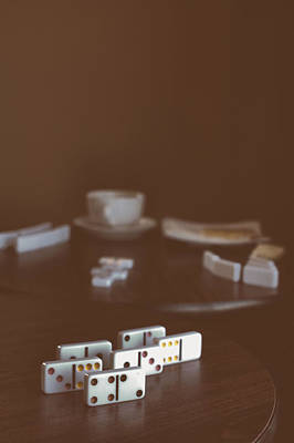 Photograph - Dominoes Coffee Break by Stephanie Hollingsworth