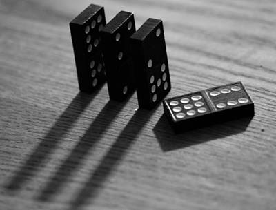Board Game Photograph - Dominoes by Dan Sproul