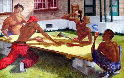 Painting - Dominoes St. Bernard by Clifford Etienne