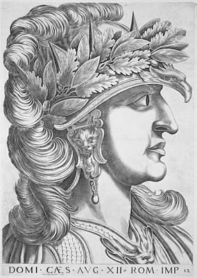 Ostrich Drawing - Domitian Caesar , 1596 by Italian School