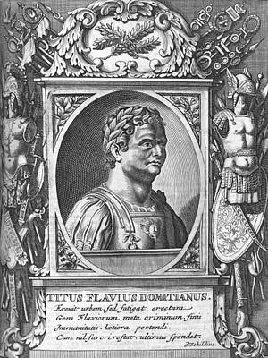 Domitian, Roman Emperor Print by Science Photo Library