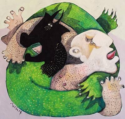 Good Vs. Evil Painting - Domos No. 2  by Mark M  Mellon