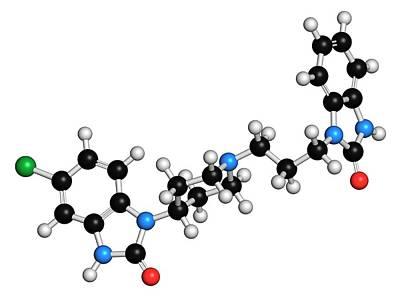 Domperidone Anti-nausea Drug Molecule Art Print