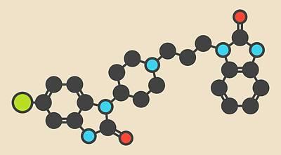 Vomit Photograph - Domperidone Nausea Drug Molecule by Molekuul