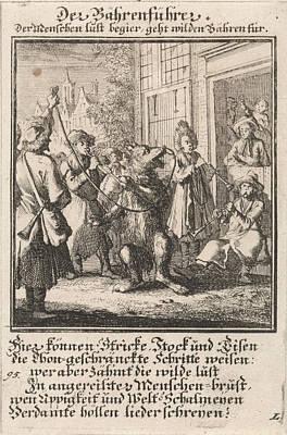 Dompteur, Tamer, Animal Trainer, Caspar Luyken Art Print by Caspar Luyken And Anonymous