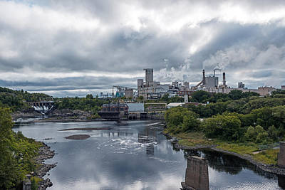 Photograph - Domtar Paper Mill In Town Of Espanola Ontario Canada by Marek Poplawski