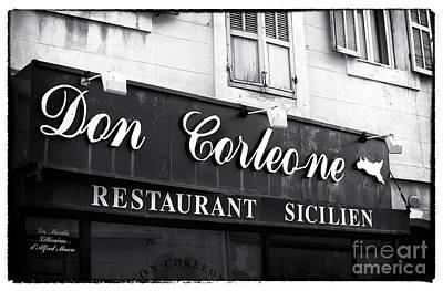 Don Corleone Art Print by John Rizzuto
