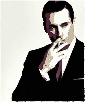 Painting - Don Draper Poster Art by Florian Rodarte