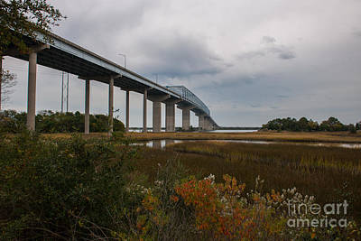 Photograph - Don Holt Bridge Marshland by Dale Powell