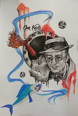 Don Knotts Drawing - Don Knotts Machine by Melissa Sink