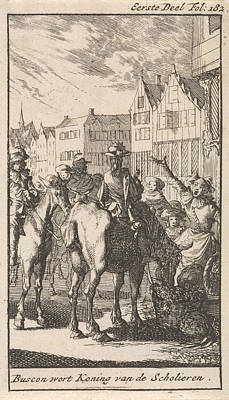 Don Pablo Buscon On A Horse, Jan Luyken Art Print