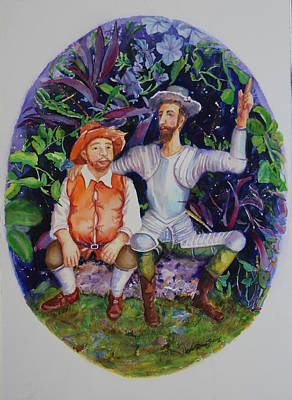 Don Quijote Shows Sancho A New Paradise Original by Estela Robles