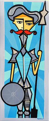 Don Quixote Painting - Don Quixote by Mary Tere Perez
