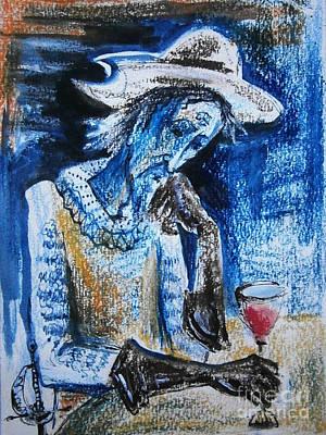 Watercolor Drawing - Don Quixote by Milen Litchkov