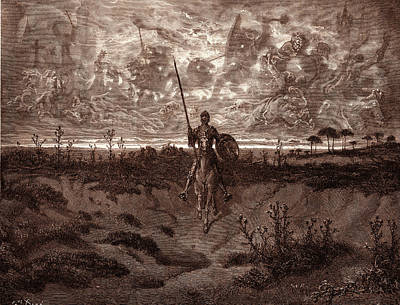 Miguel Art Drawing - Don Quixote Setting Out On His Adventures by Litz Collection