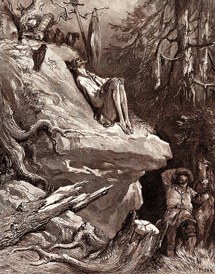 Miguel Art Drawing - Don Quixotes Madness, By Gustave Dore by Litz Collection