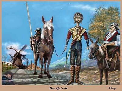 Digital Art - Don Quixotic by George Flay