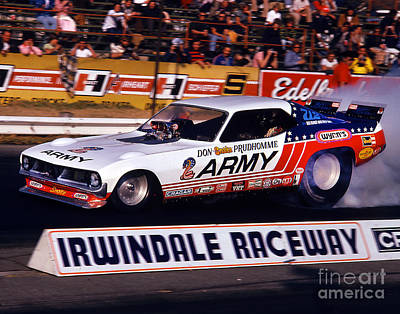 Don The Snake Prudhomme Irwindale Raceway 1970s Art Print by Howard Koby