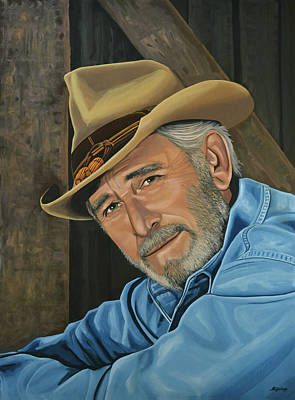 Folk Realism Painting - Don Williams Painting by Paul Meijering