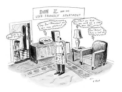 Spin Drawing - Don Z. And His User-friendly Apartment by Roz Chast