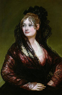 Spaniards Painting - Dona Isabel De Porcel by Francisco Jose de Goya y Lucientes