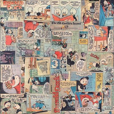 Mixed Media - Donald Duck Comics by Judy Tolley