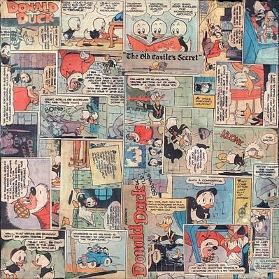 Donald Duck Comics Art Print