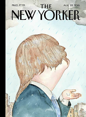 Hillary Clinton Painting - Donald's Rainy Days by Barry Blitt