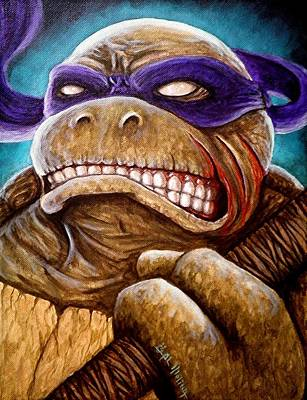 Teenage Mutant Ninja Turtles Painting - Donatello Unleashed by Al  Molina