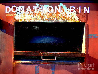 Donation Bin Art Print by Ed Weidman