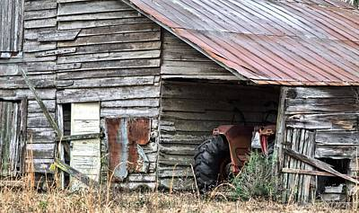 Rusty Tin Roof Photograph - Done For The Day by JC Findley