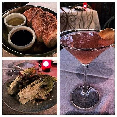 Martini Wall Art - Photograph - Done With Training And Having Dinner by Lisa-marie Jordan