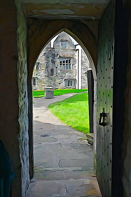 Photograph - Donegal Castle Gate by Charlie and Norma Brock