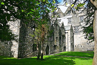 Photograph - Donegal Castle Grounds by Charlie and Norma Brock