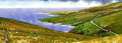 Wall Art - Painting - Donegal Coast by Jim Gola