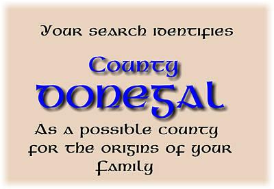 Digital Art - Donegal Ancestry by Val Byrne