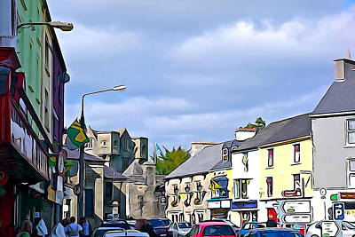 Photograph - Donegal Town Centre by Charlie and Norma Brock