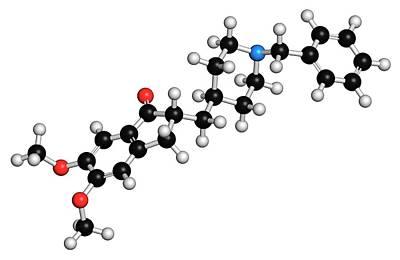 Donepezil Alzheimer's Disease Drug Print by Molekuul
