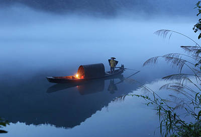 Oars Photograph - Dong Jiang Lake by Adam Wong