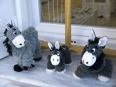 Photograph - Donkey Puppets On Santorini by Brenda Kean