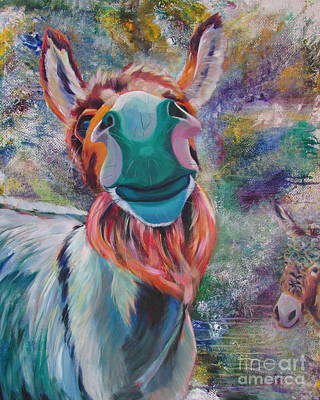 Painting - Donkeys by Adele Castillo