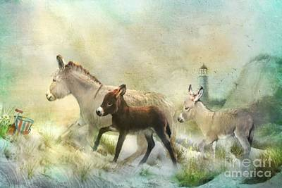 Donkey Mixed Media - Donkey's Day Off by Trudi Simmonds