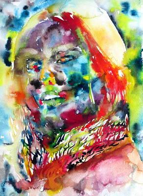 Foulard Painting - Donnabella by Fabrizio Cassetta