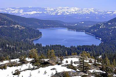 Photograph - Donner Lake by AJ  Schibig