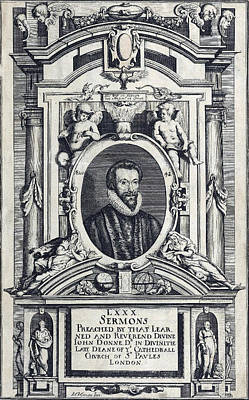 Sermon Photograph - Donnes Selected Sermons, Title Page by Folger Shakespeare Library