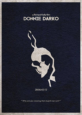 Textures Drawing - Donnie Darko by Ayse Deniz